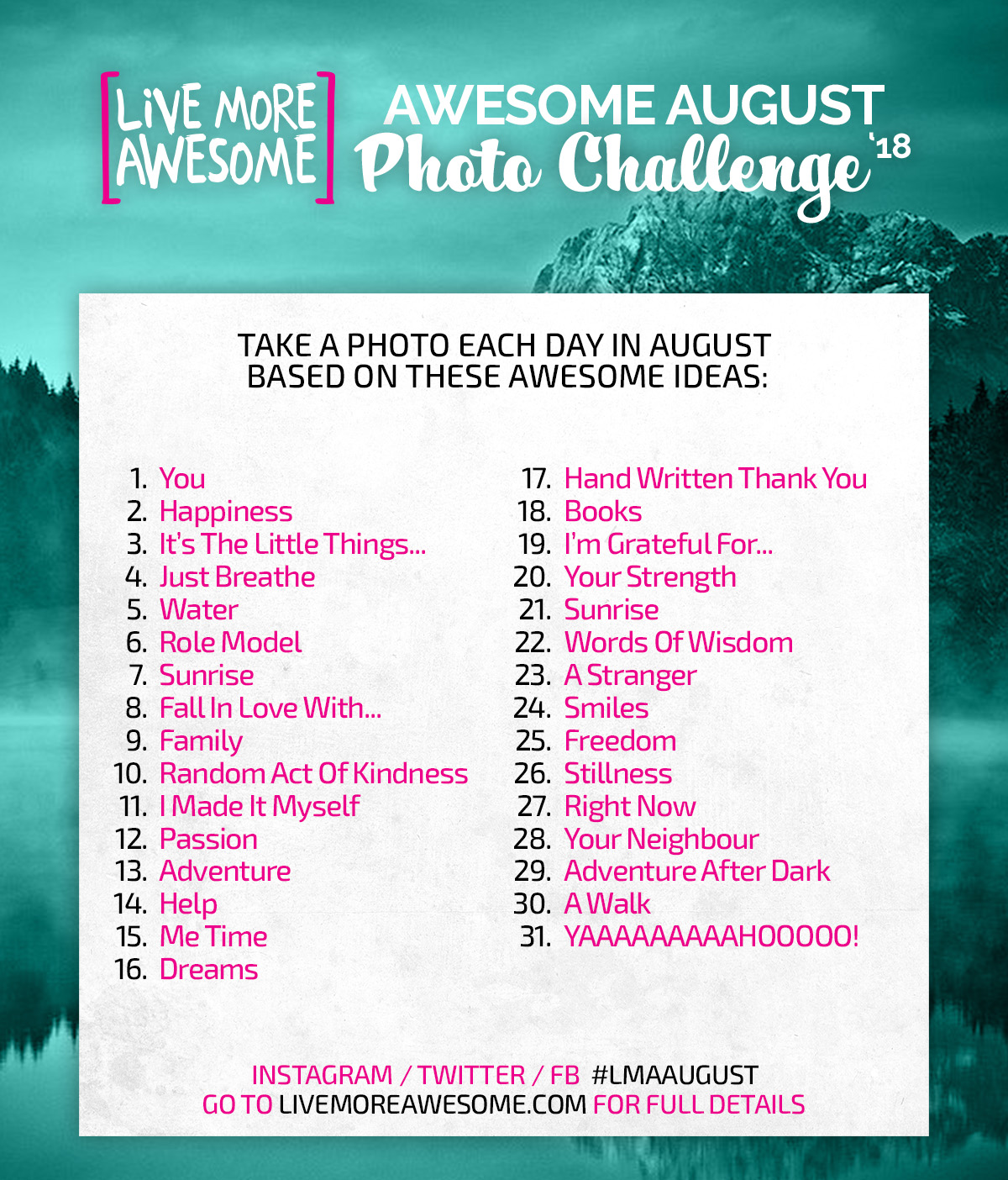 Awesome August Photo Challenge
